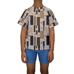 Pattern Wallpaper Patterns Abstract Kids  Short Sleeve Swimwear