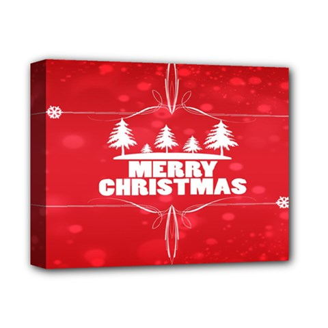 Red Bokeh Christmas Background Deluxe Canvas 14  X 11