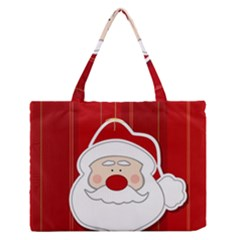 Santa Claus Xmas Christmas Medium Zipper Tote Bag by Nexatart