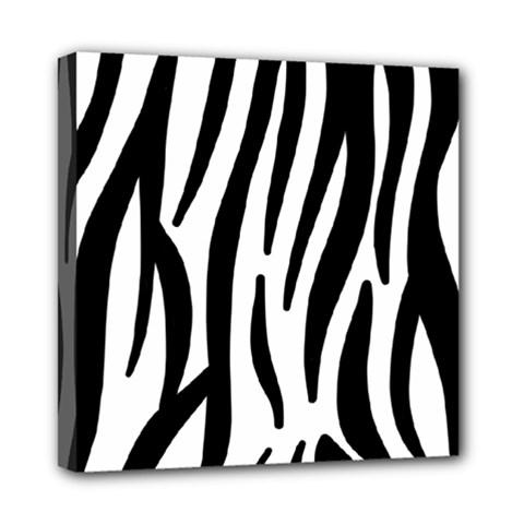 Seamless Zebra Pattern Mini Canvas 8  X 8