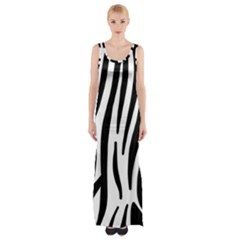 Seamless Zebra Pattern Maxi Thigh Split Dress by Nexatart