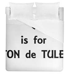 C Is For Coton Duvet Cover (Queen Size) by TailWags