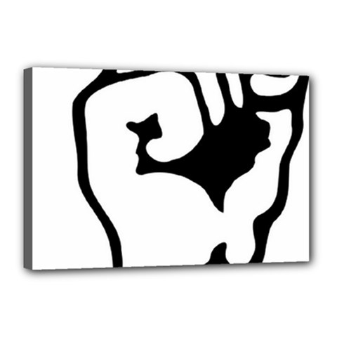 Skeleton Right Hand Fist Raised Fist Clip Art Hand 00wekk Clipart Canvas 18  X 12  by Foxymomma