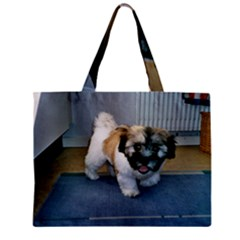 Coton Puppy 2 Zipper Mini Tote Bag by TailWags