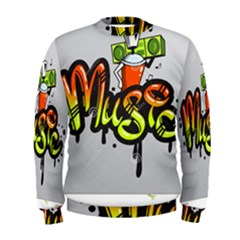Graffiti Word Character Print Spray Can Element Player Music Notes Drippy Font Text Sample Grunge Ve Men s Sweatshirt by Foxymomma