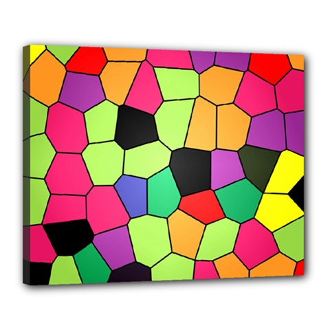 Stained Glass Abstract Background Canvas 20  X 16