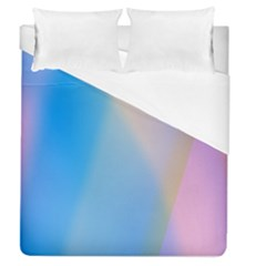 Twist Blue Pink Mauve Background Duvet Cover (queen Size) by Nexatart