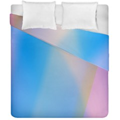 Twist Blue Pink Mauve Background Duvet Cover Double Side (california King Size) by Nexatart