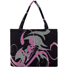 Violet Calligraphic Art Mini Tote Bag by Nexatart