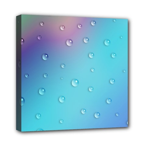 Water Droplets Mini Canvas 8  X 8