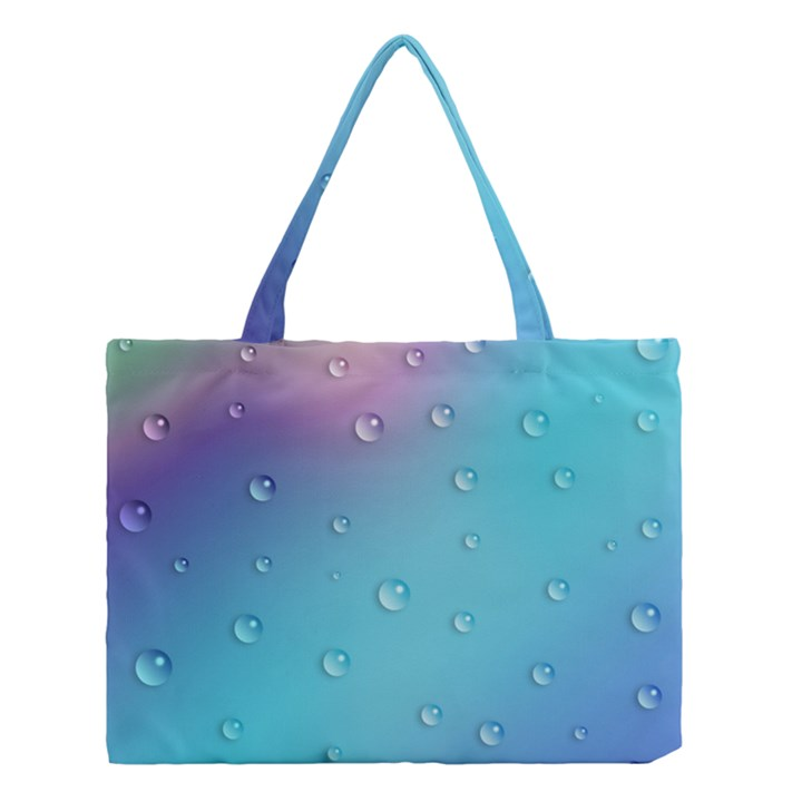 Water Droplets Medium Tote Bag