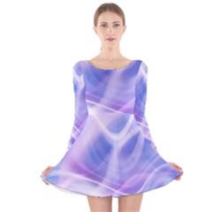 Abstract Graphic Design Background Long Sleeve Velvet Skater Dress by Nexatart