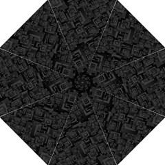 Black Rectangle Wallpaper Grey Straight Umbrellas