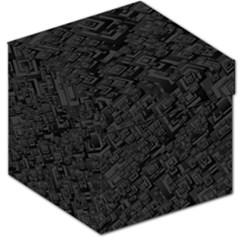 Black Rectangle Wallpaper Grey Storage Stool 12   by Nexatart