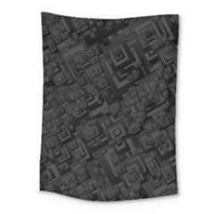Black Rectangle Wallpaper Grey Medium Tapestry by Nexatart
