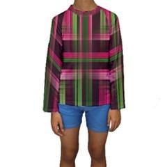 Background Texture Pattern Color Kids  Long Sleeve Swimwear