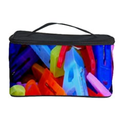 Clothespins Colorful Laundry Jam Pattern Cosmetic Storage Case