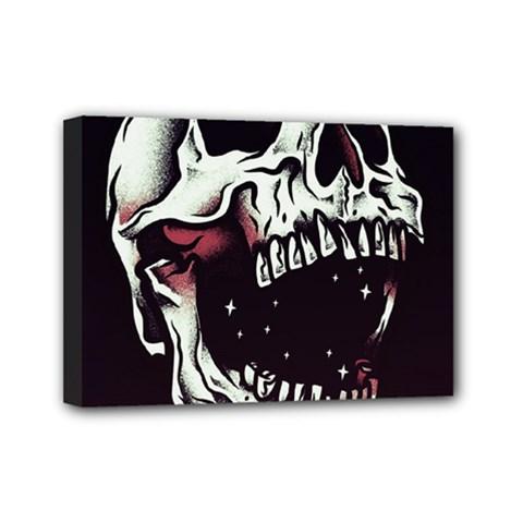 Death Skull Mini Canvas 7  X 5