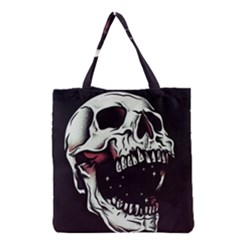 Death Skull Grocery Tote Bag
