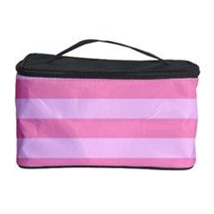 Fabric Baby Pink Shades Pale Cosmetic Storage Case by Nexatart