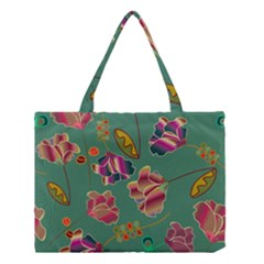 Flowers Pattern Medium Tote Bag