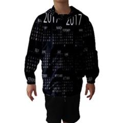 Full 2017 Calendar Vector Hooded Wind Breaker (kids) by Nexatart