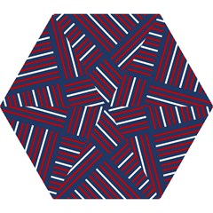 Geometric Background Stripes Red White Mini Folding Umbrellas