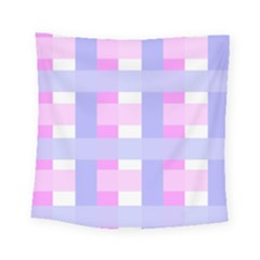 Gingham Checkered Texture Pattern Square Tapestry (small) by Nexatart