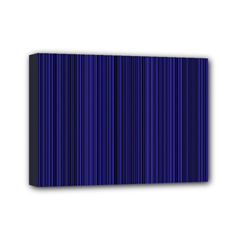 Deep blue lines Mini Canvas 7  x 5  by Valentinaart