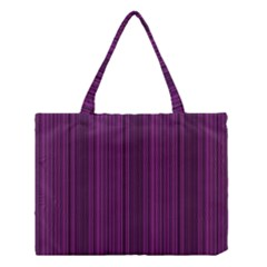 Deep Purple Lines Medium Tote Bag by Valentinaart