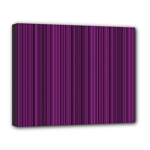 Deep Purple Lines Deluxe Canvas 20  X 16   by Valentinaart