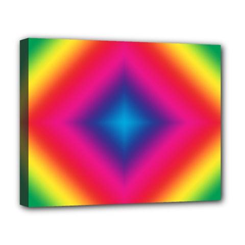Hippie  Deluxe Canvas 20  X 16   by Valentinaart