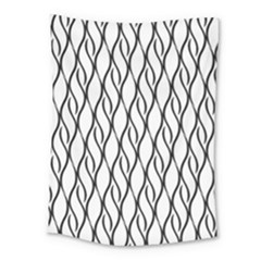Black And White Elegant Pattern Medium Tapestry
