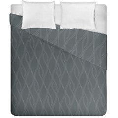 Gray Pattern Duvet Cover Double Side (california King Size) by Valentinaart