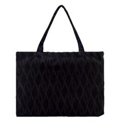 Black Pattern Medium Tote Bag by Valentinaart