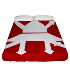 Flag Of The Myanmar Army Fitted Sheet (california King Size) by abbeyz71
