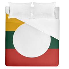 Flag Of Myanmar Shan State Duvet Cover (queen Size) by abbeyz71
