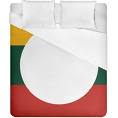 Flag Of Myanmar Shan State Duvet Cover (california King Size) by abbeyz71