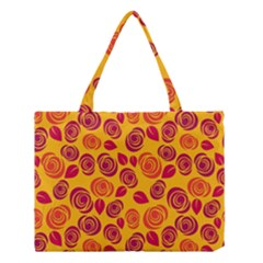 Orange Roses Medium Tote Bag by Valentinaart