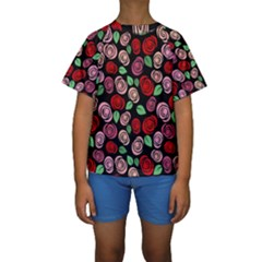 Red And Pink Roses Kids  Short Sleeve Swimwear by Valentinaart
