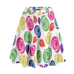 Colorful Roses High Waist Skirt by Valentinaart