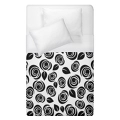 Black Roses Pattern Duvet Cover (single Size) by Valentinaart