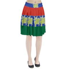Flag Of Myanmar Kayah State Pleated Skirt by abbeyz71
