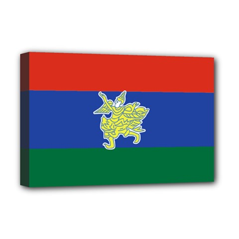 Flag Of Myanmar Kayah State Deluxe Canvas 18  X 12   by abbeyz71