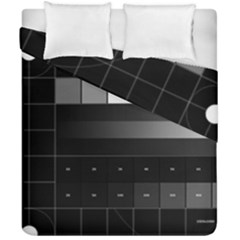 Grayscale Test Pattern Duvet Cover Double Side (california King Size) by Nexatart