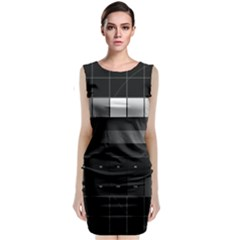 Grayscale Test Pattern Classic Sleeveless Midi Dress