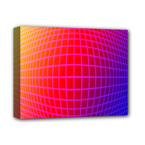 Grid Diamonds Figure Abstract Deluxe Canvas 14  X 11