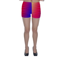 Grid Diamonds Figure Abstract Skinny Shorts