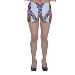 Groovy Flower Clip Art Skinny Shorts