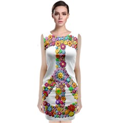 Groovy Flower Clip Art Classic Sleeveless Midi Dress